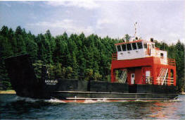 Self-propelled cargo barge Bad News
