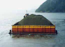 The towing of a rock barge in Howe Sound
