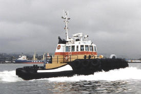 one of two tug boats Tiger Pride and Tiger Shark
